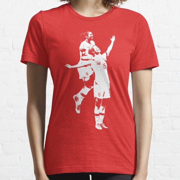 Megan Rapinoe and Alex Morgan Victory Pose - The White Stencil Essential T-Shirt