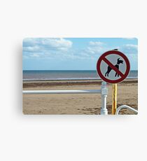 No Dogs Please Canvas Print