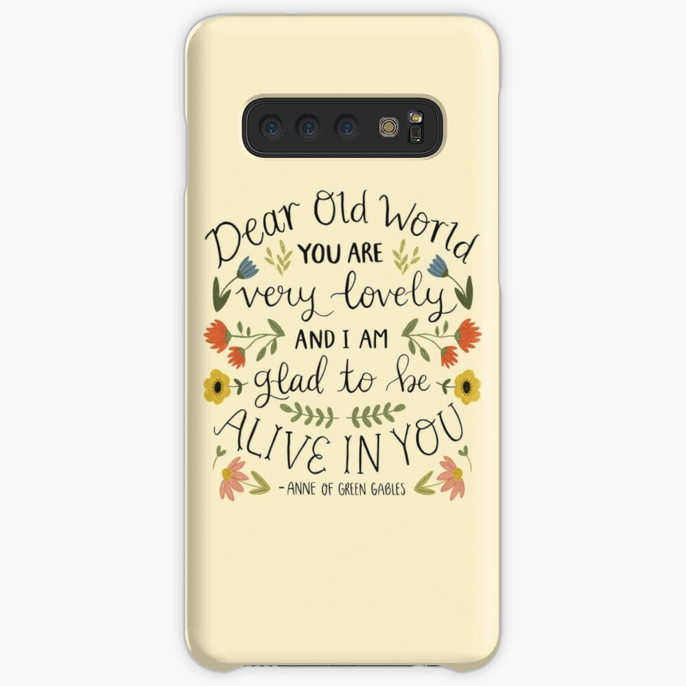 """Anne of Green Gables """"Dear Old World"""" Quote Case & Skin for Samsung Galaxy"""