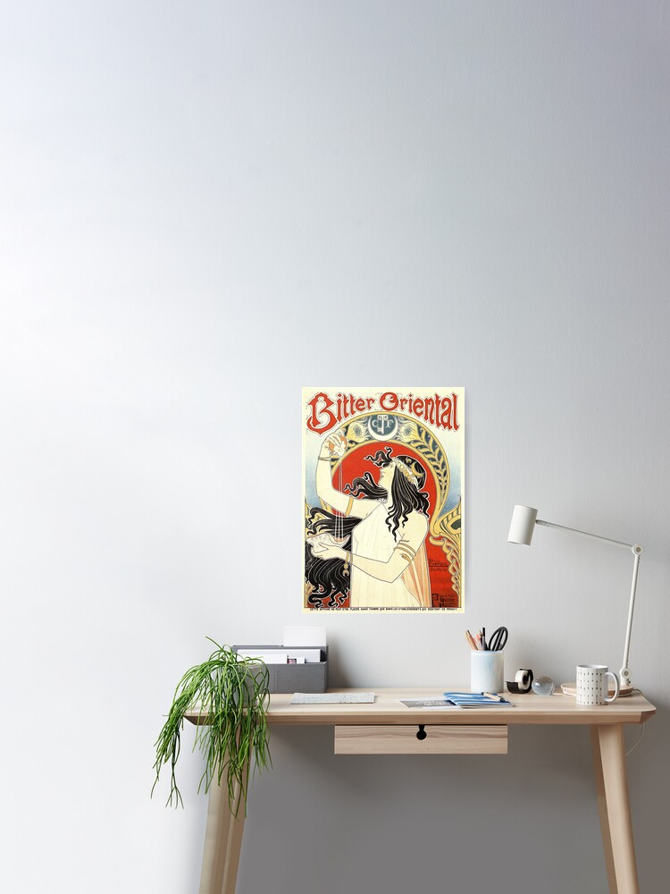 Bitter Oriental Art Nouveau Home Decor Canvas Print Choose Your Size Home Decor Home Garden