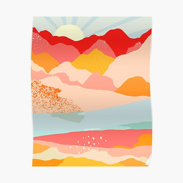 sunrise mountains Poster