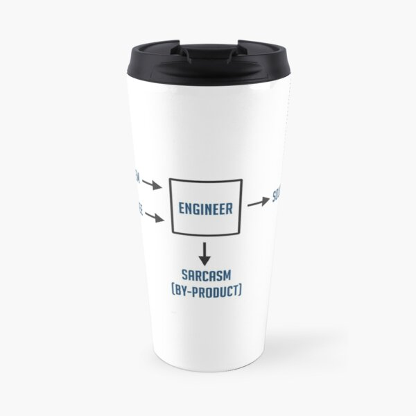 Engineering Sarcasm By-product Travel Mug