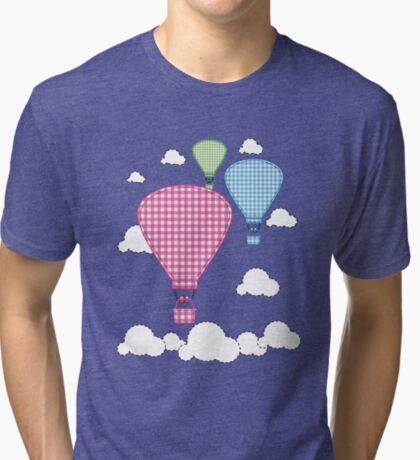 Plaid Hot Air Ballons Tri-blend T-Shirt