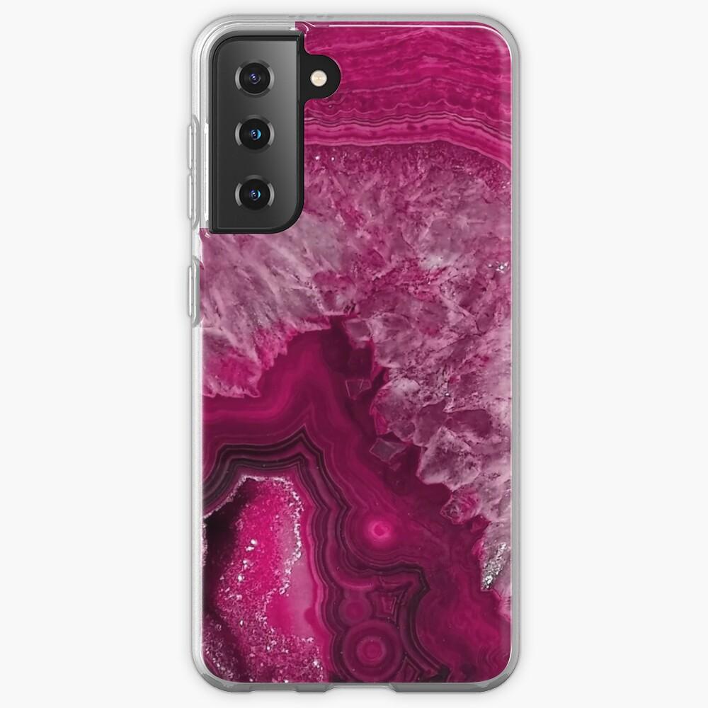 Pink Magenta Agate Mineral Gemstone Case & Skin for Samsung Galaxy