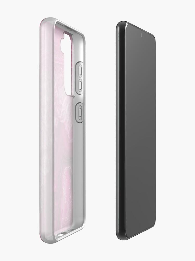 Alternate view of Pink Magenta Agate Mineral Gemstone Case & Skin for Samsung Galaxy