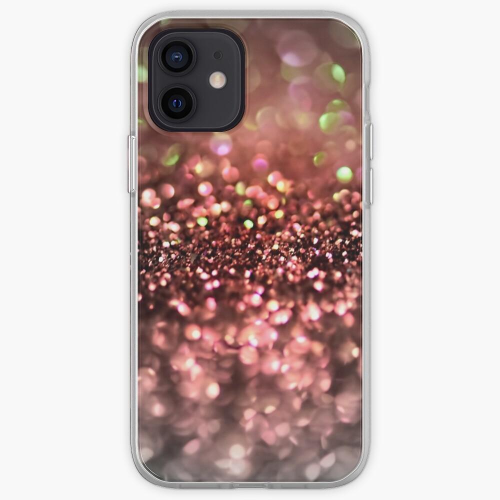 Copper Bronze Ombre Blush Glitter iPhone Case & Cover