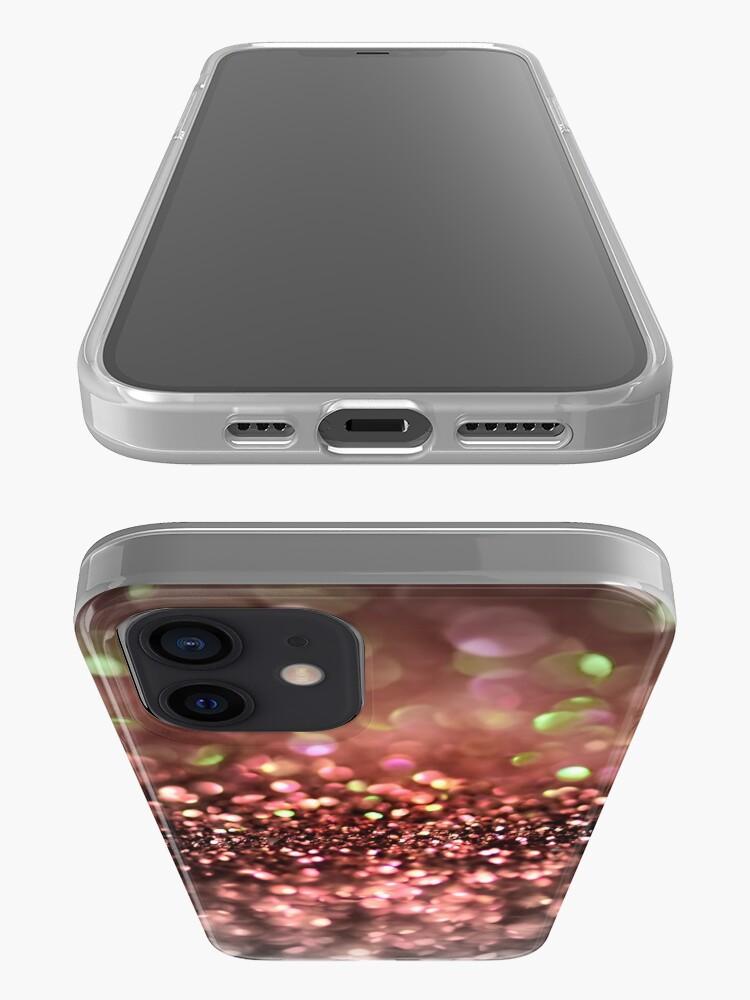 Alternate view of Copper Bronze Ombre Blush Glitter iPhone Case & Cover