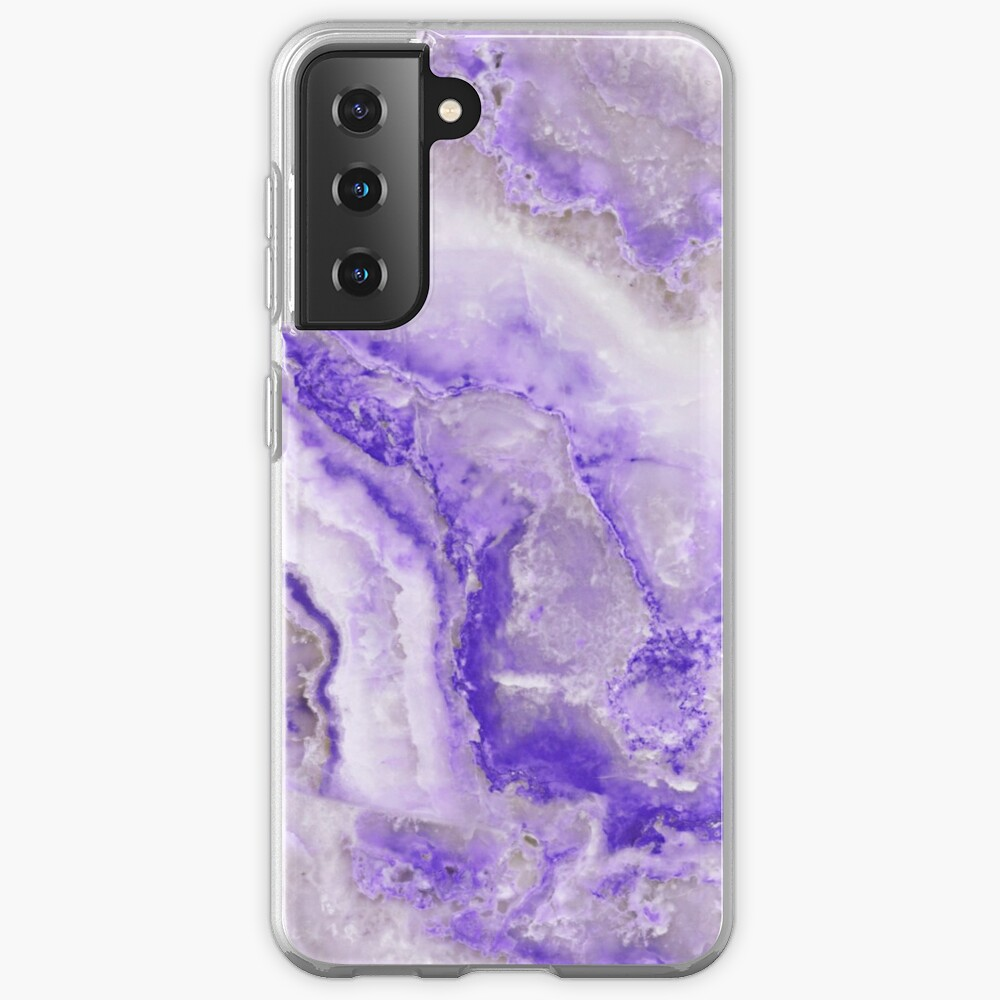 Ultraviolet and Gray Agate Mineral Gemstone Case & Skin for Samsung Galaxy