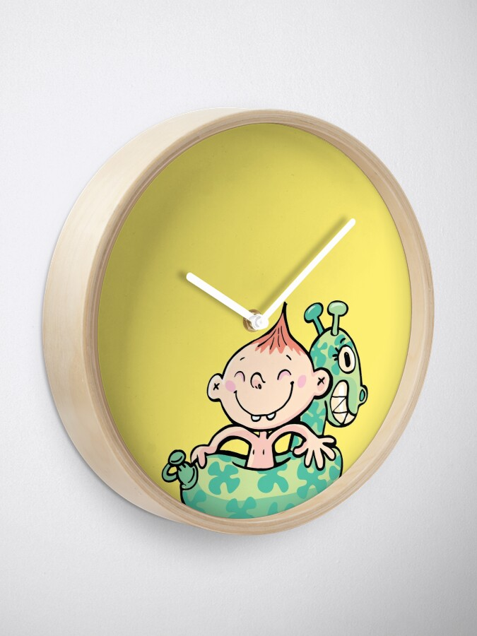 Alternate view of boy with a rubber belt for swimming Clock