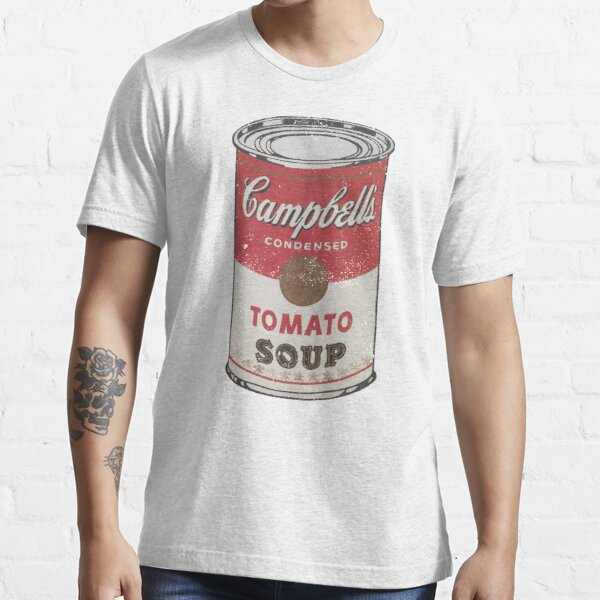 Warhol Tomato Soup Can (distressed design) Essential T-Shirt