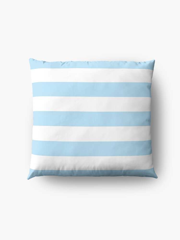 Alternate view of Stripes (Parallel Lines) - Blue White Floor Pillow