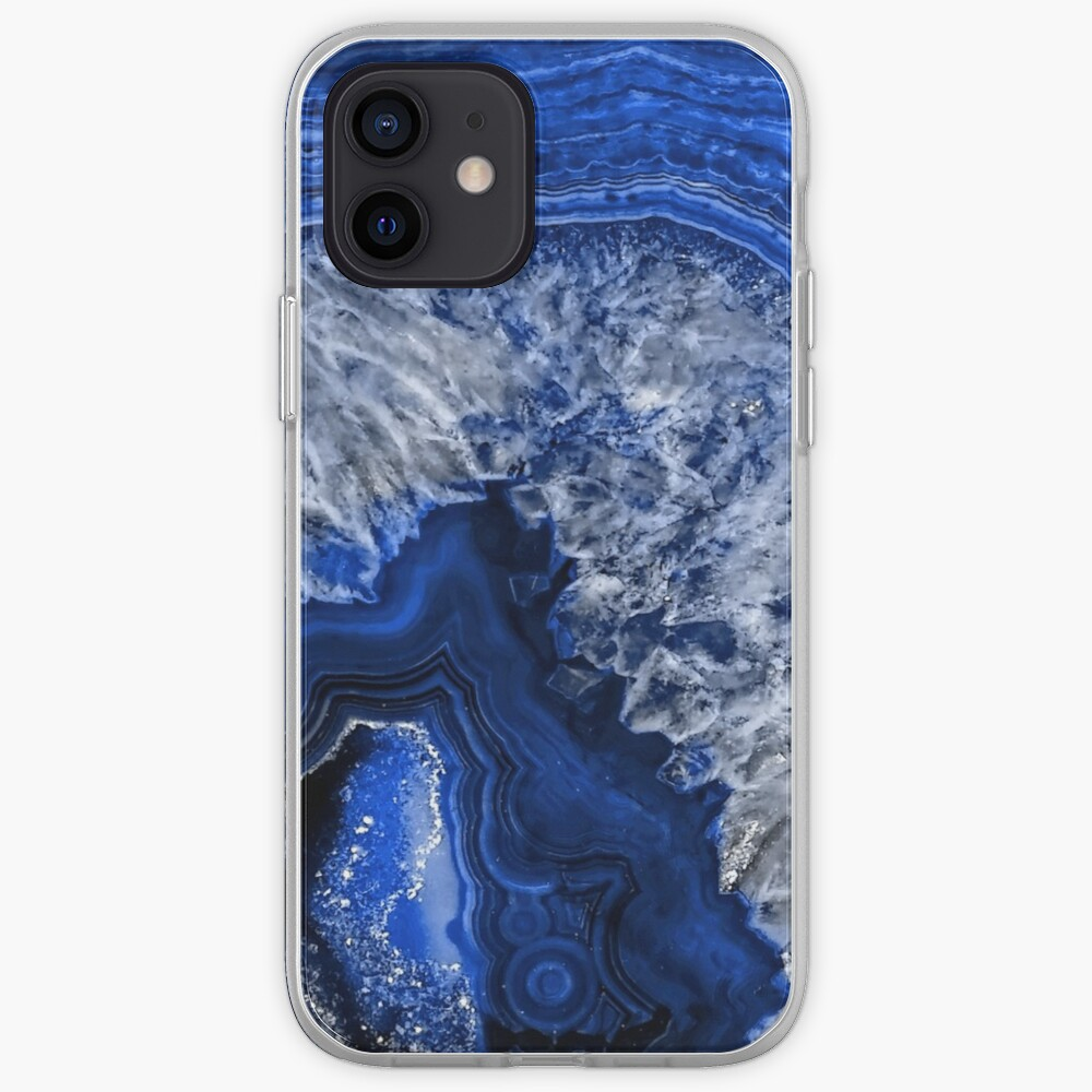 Ocean Blue Agate Mineral Gemstone iPhone Case & Cover