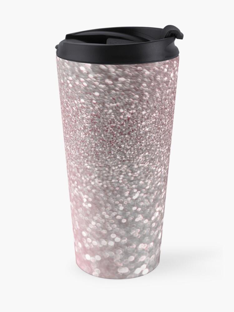 Alternate view of Mermaid Rose Gold Blush Glitter Travel Mug