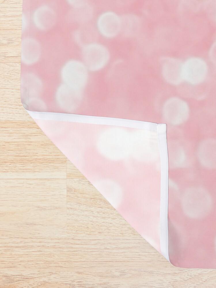 Alternate view of Mermaid Rose Gold Blush Glitter Shower Curtain