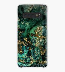 Gold Indigo Malachite Marble Case/Skin for Samsung Galaxy