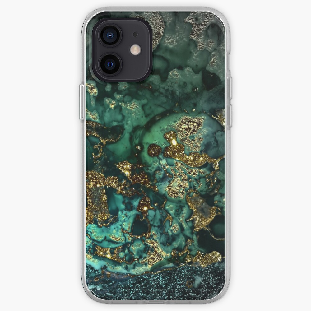 Gold Indigo Malachite Marble iPhone Case & Cover