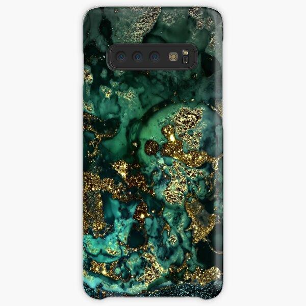Gold Indigo Malachite Marble Samsung Galaxy Snap Case