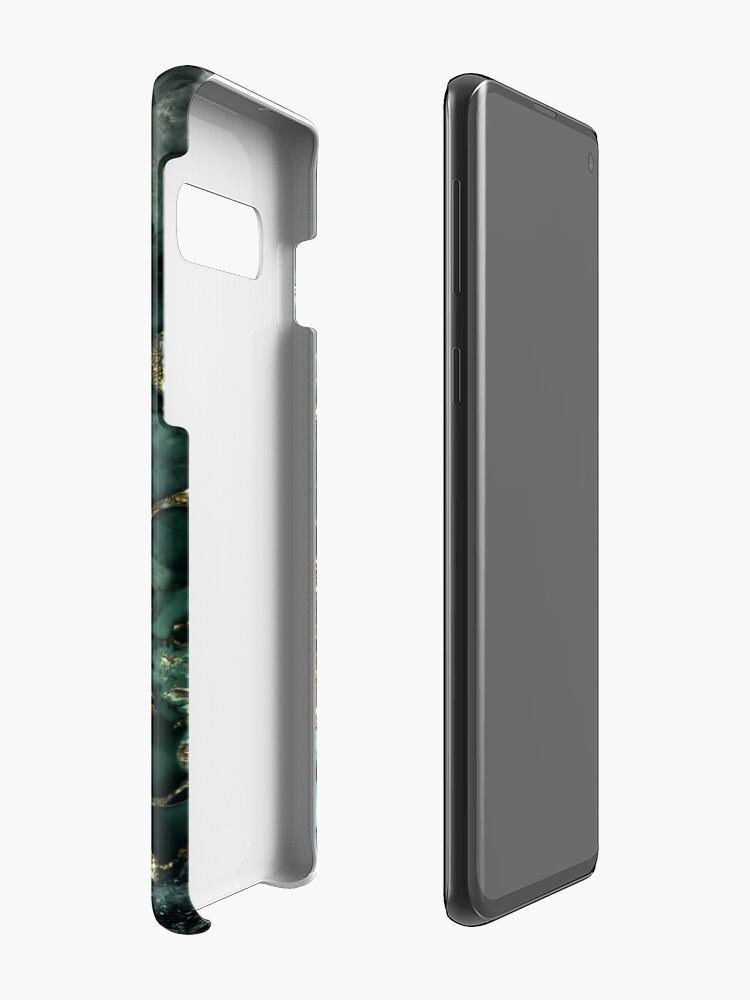 Alternate view of Gold Indigo Malachite Marble Case & Skin for Samsung Galaxy
