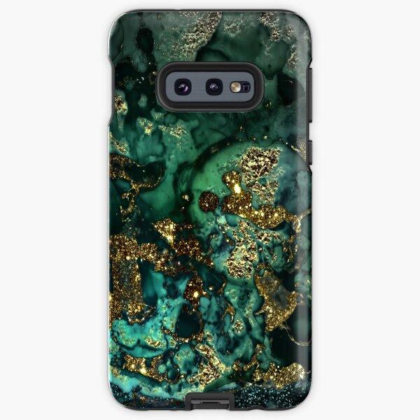 Gold Indigo Malachite Marble Samsung Galaxy Tough Case