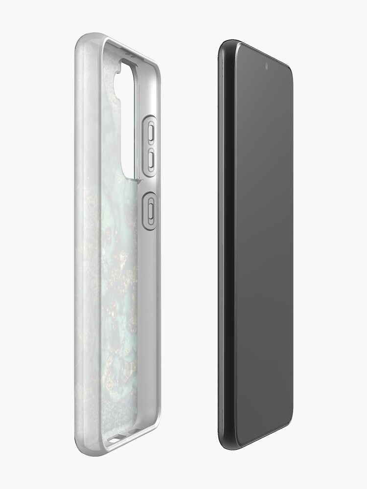 Alternate view of Gold Indigo Malachite Marble Samsung Galaxy Phone Case
