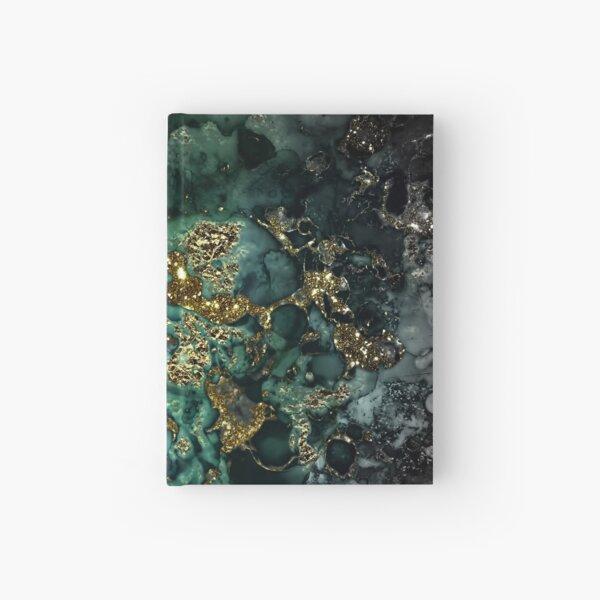 Gold Indigo Malachite Marble Hardcover Journal