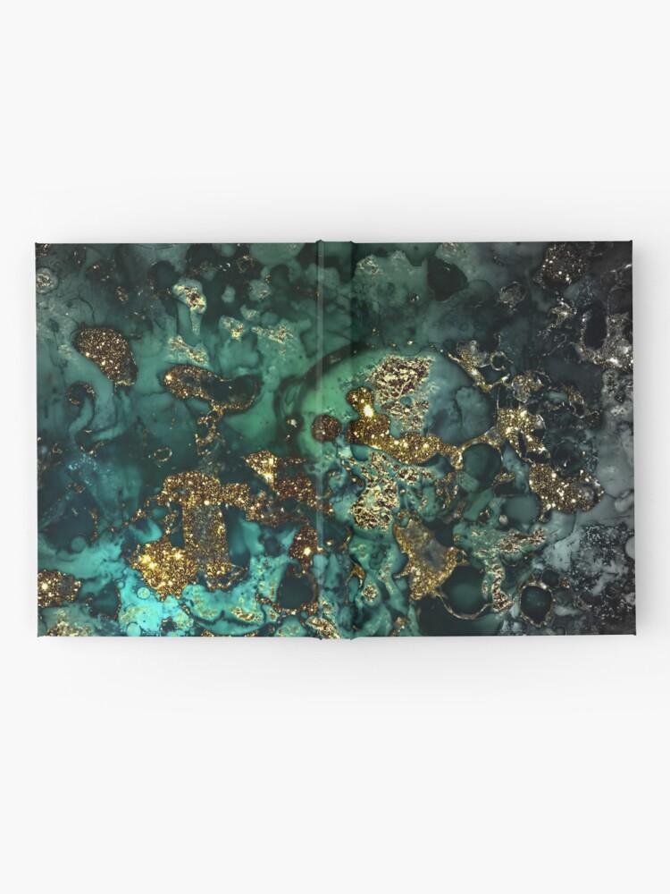 Alternate view of Gold Indigo Malachite Marble Hardcover Journal