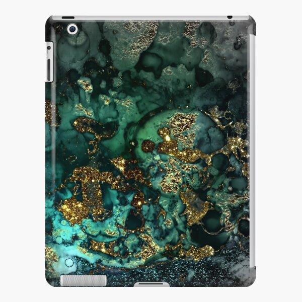 Gold Indigo Malachite Marble iPad Snap Case