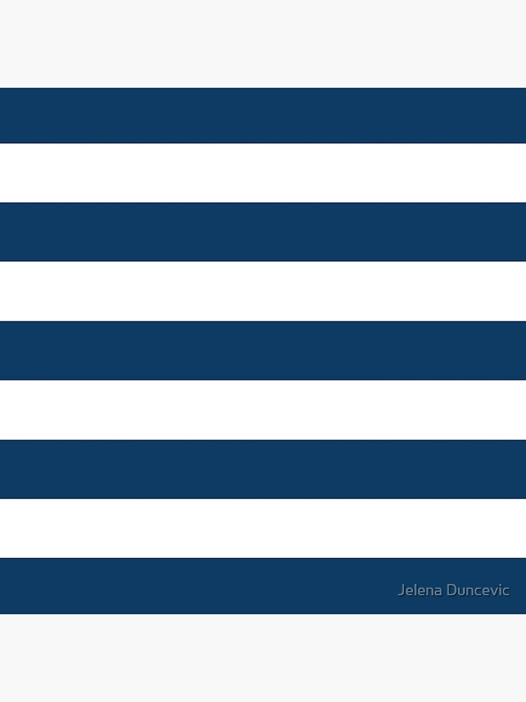 Stripes (Parallel Lines) - Navy Blue, White by sitnica