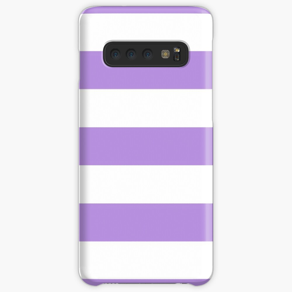 Stripes (Parallel Lines) - Purple White Case & Skin for Samsung Galaxy