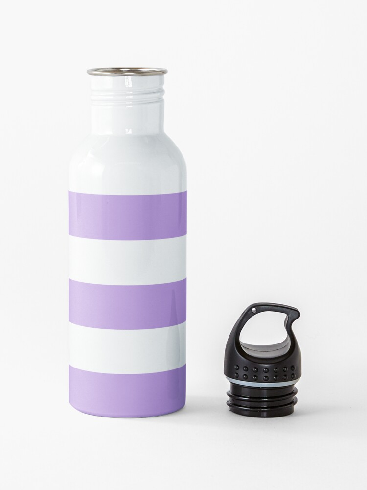 Alternate view of Stripes (Parallel Lines) - Purple White Water Bottle