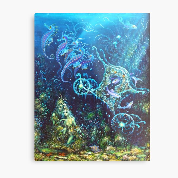 Message of the Undersea Coach Metal Print