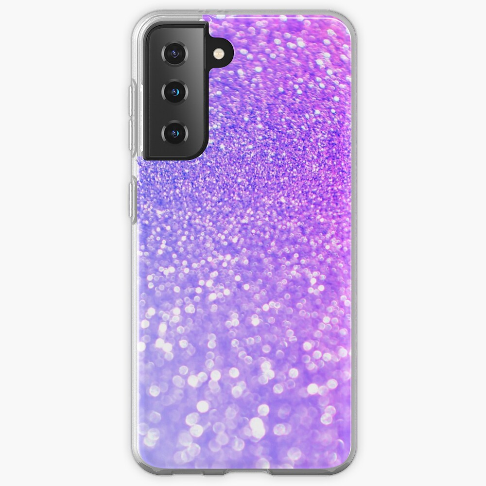 Purple and Ultra Violet Blush Glitter Case & Skin for Samsung Galaxy