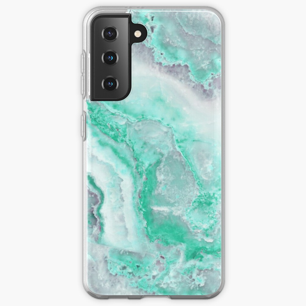 Luxury Mermaid Green Agate Marble Geode Gem Case & Skin for Samsung Galaxy