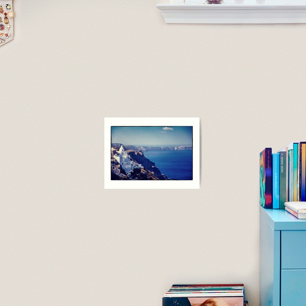 Santorini Caldera Art Print