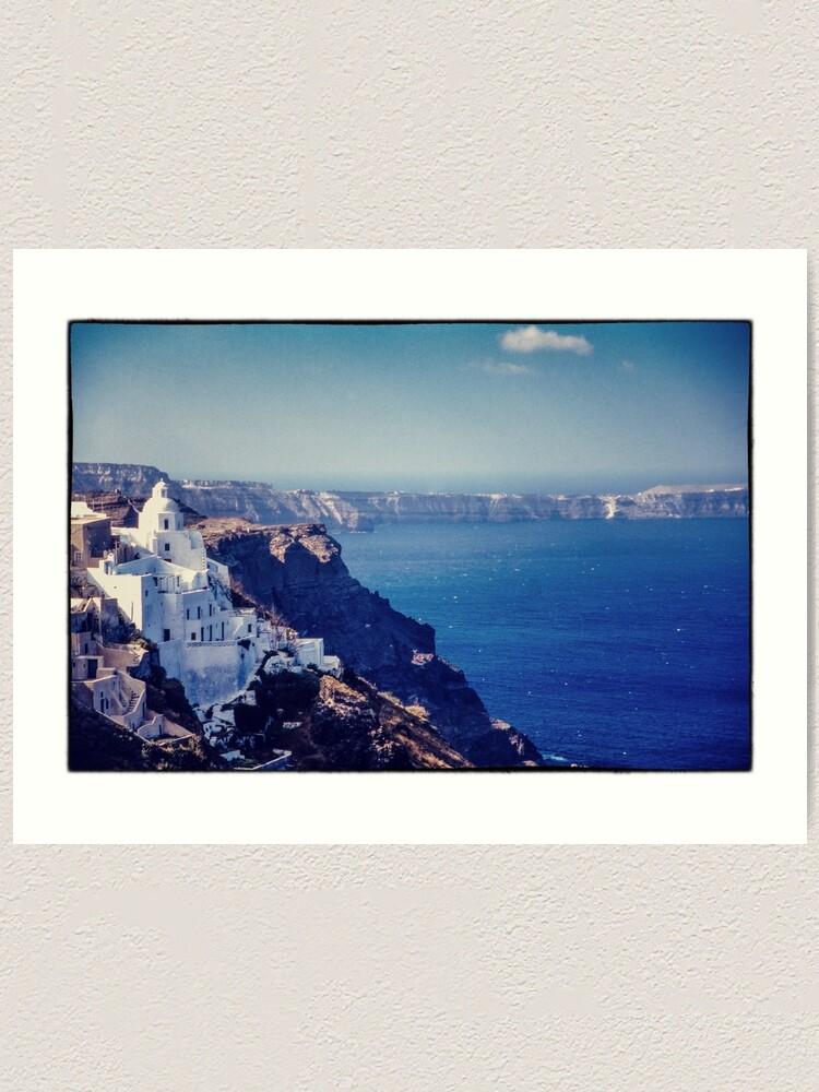 Alternate view of Santorini Caldera Art Print