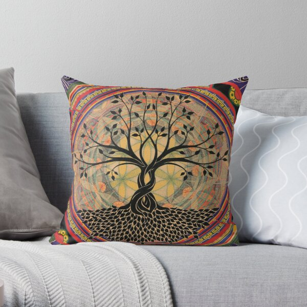 Life:Tree Throw Pillow