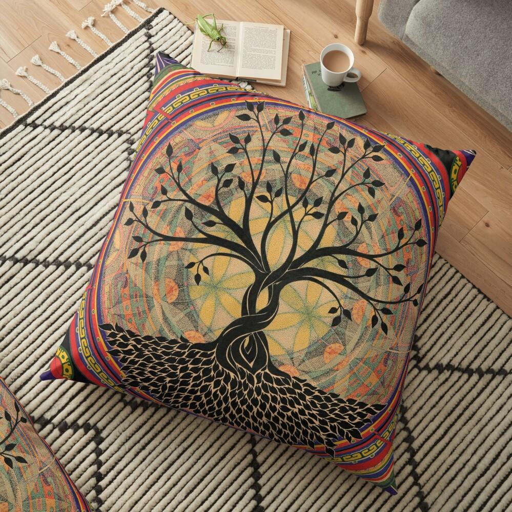 Life:Tree Floor Pillow