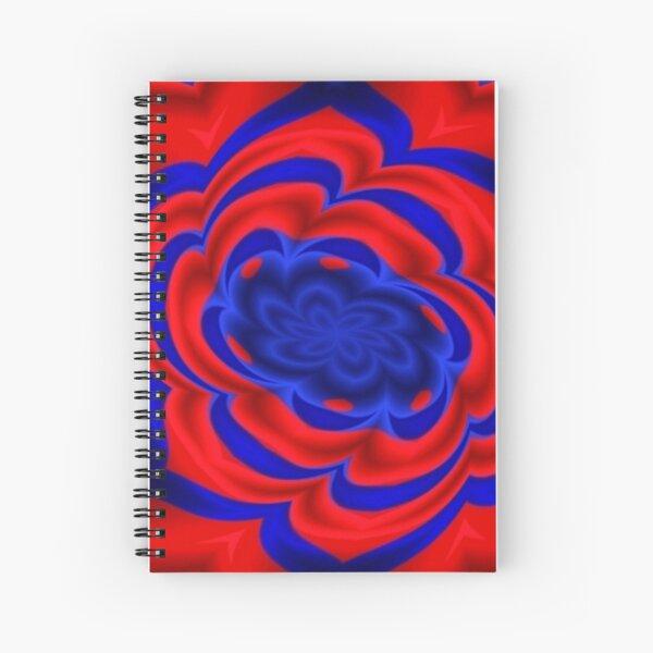 Rose, Plants, Graphic Design, kaleidoscope Spiral Notebook