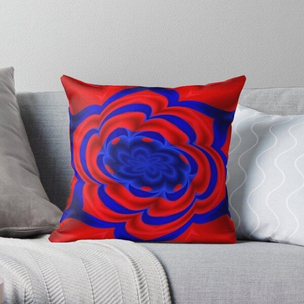 Rose, Plants, Graphic Design, kaleidoscope Throw Pillow