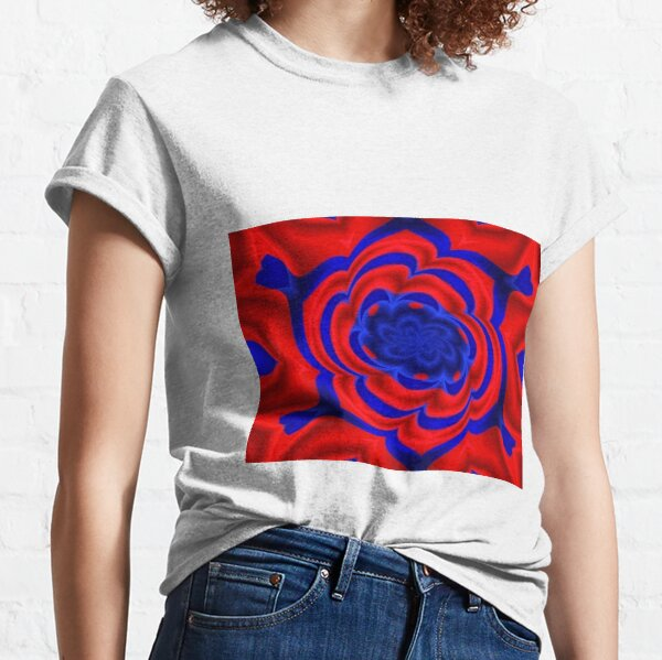 Rose, Plants, Graphic Design, kaleidoscope Classic T-Shirt