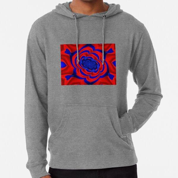 Rose, Plants, Graphic Design, kaleidoscope Lightweight Hoodie