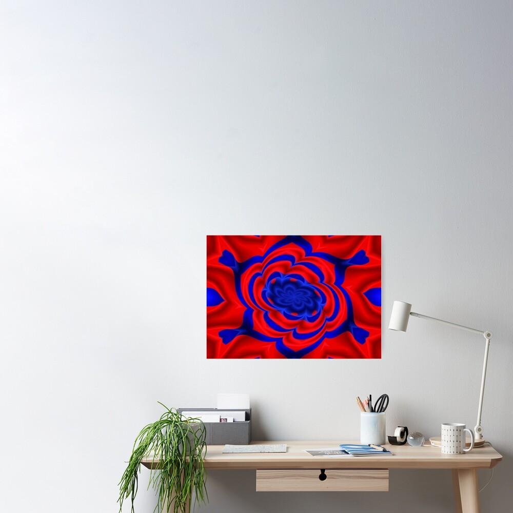 Rose, Plants, Graphic Design, kaleidoscope Poster