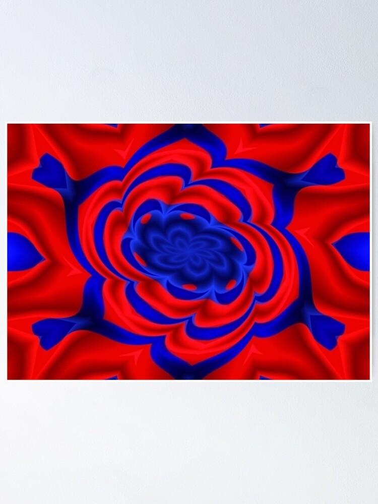 Alternate view of Rose, Plants, Graphic Design, kaleidoscope Poster