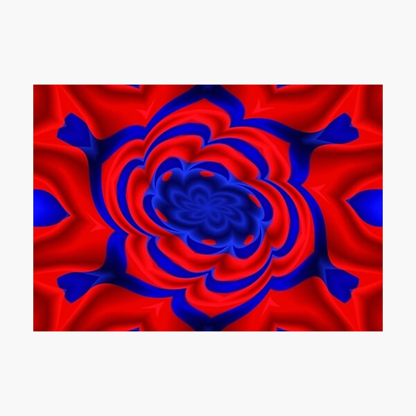 Rose, Plants, Graphic Design, kaleidoscope Photographic Print