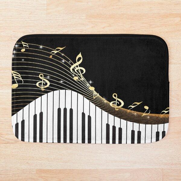 Ivory Keys Piano Music Bath Mat