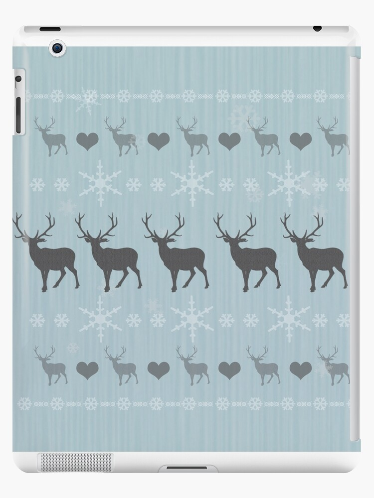 Nordisches Ren-Weihnachtsmuster-Eisblau von DOOLALLY