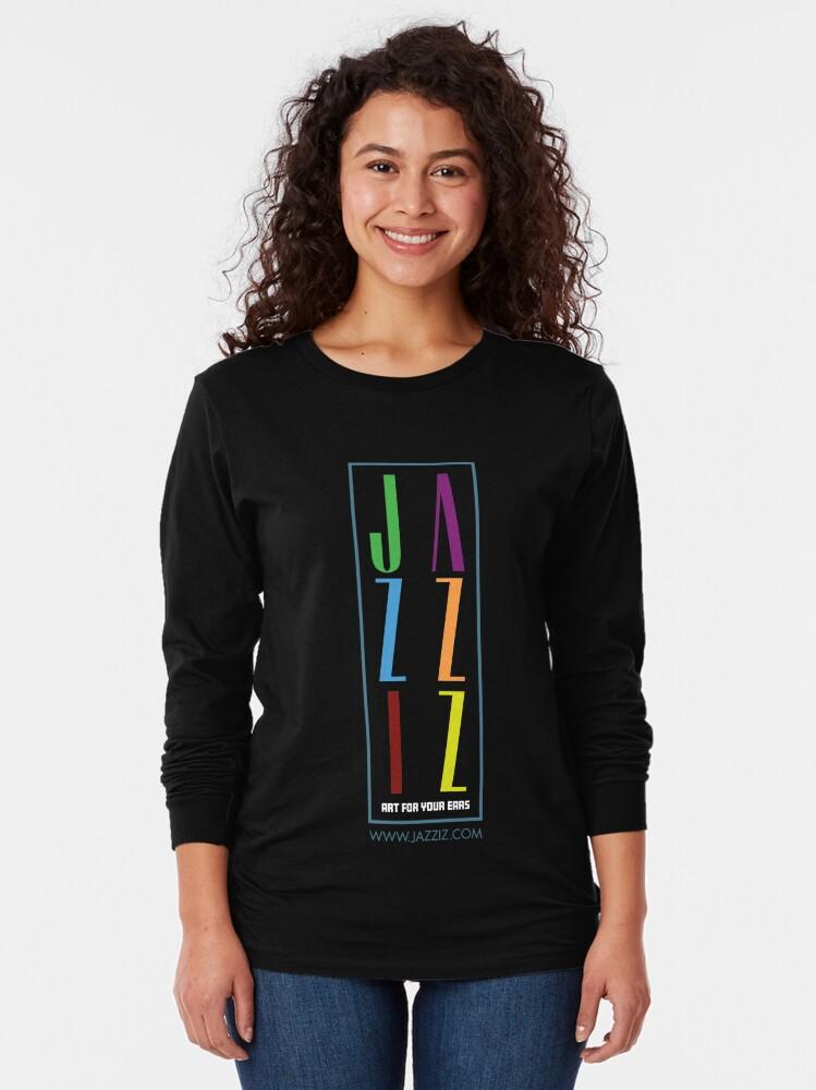 "Alternate view of JAZZIZ ""Stacked"" Long Sleeve T-Shirt"