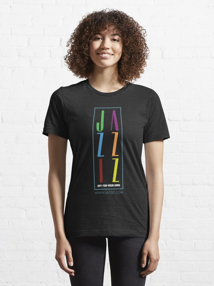 "Alternate view of JAZZIZ ""Stacked"" Essential T-Shirt"
