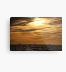 Sun Setting on a Resource Metal Print