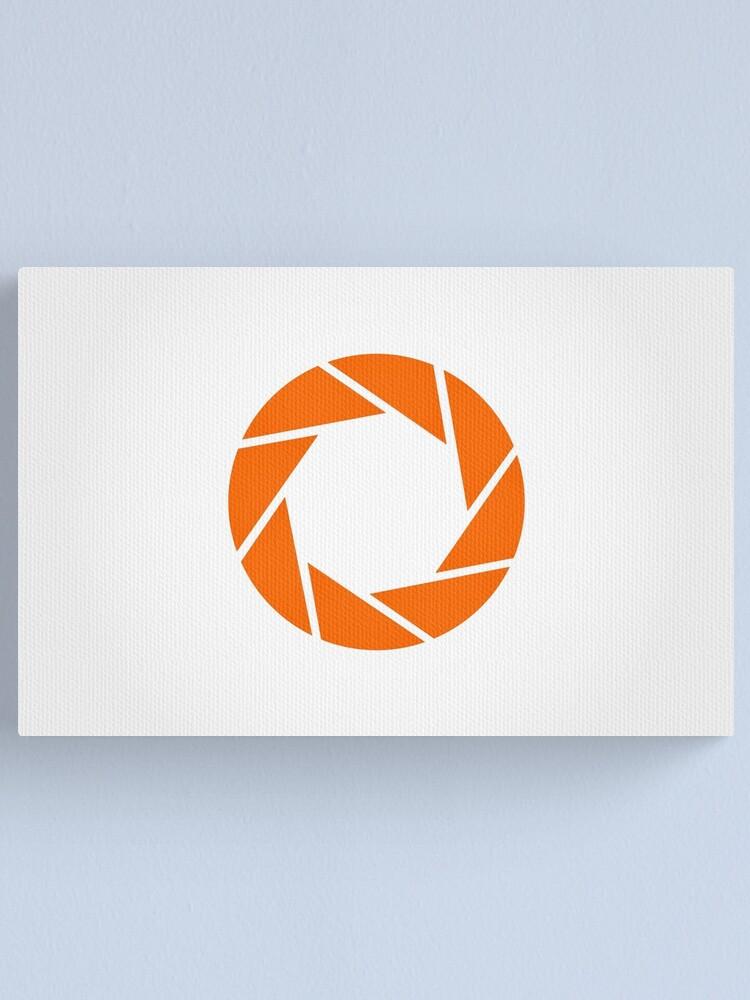 Alternate view of Aperture Science (Orange) Logo Canvas Print